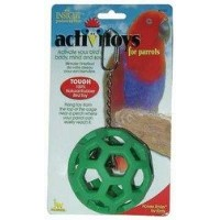 Rubber Toy - Holee Roller For Birds (Assorted Colors) by Jw - Dog/cat/aquatic