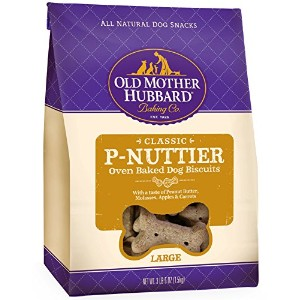 Old Mother Hubbard P-Nuttier All Natural Basted Pet Dog Biscuits Large 3.5lb
