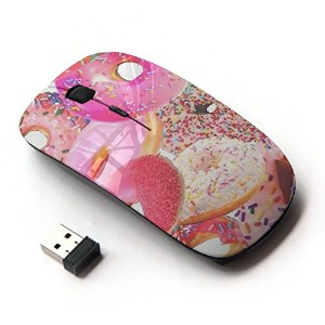 KOOLmouse [ ワイヤレスマウス 2.4Ghz無線光学式マウス ] [ Doughnut Sprinkles Sweet Homer Pink ]