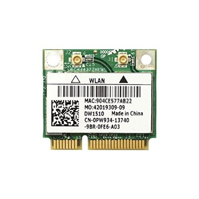 Dell Wireless WLAN 1510 DW1510 内蔵ワイヤレスLAN Half-Miniカード (300Mbps 802.11a/b/g/n対応) BCM94322HM8L...