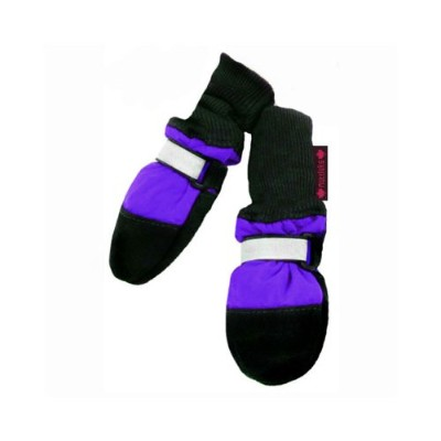 Muttluks Fleece Lined 1.5-Inch to 2.25-Inch Dog Boots, XX-Small, Purple, Set of 4 by Muttluks