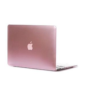 MacBook Air 11ケース、L2W MacBook Air 11インチMetalicケースPCカバー、MacBook Air 11用 - メタルピンク
