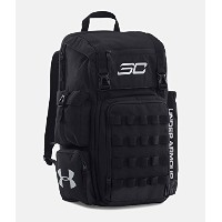 UNDER ARMOUR CURRY SC30 BACKPACK(アンダーアーマー/カリー リュックサック) (Black/Silver/Black) [並行輸入品]