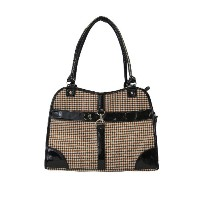 Anima Houndstooth Purse Carrier, 13.5-Inch by 6.5-Inch by 10.5-Inch, Brown by Anima