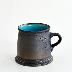 ONE KILN CERAMICS/MAG A LOW(B) A型マグ ロータイプ ASH×ブルー