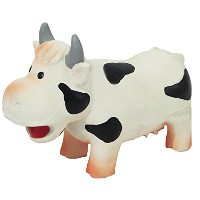 Jolly Doggy Grunters Latex Cow Dog Toy by Rosewood Pet