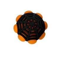 JW Pet Arachnoid Ball Durable Natural Rubble Squeaky Fun Interactive Dog Toy