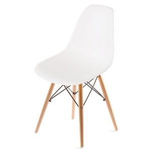 UNE BONNE(ウネボネ) EAMES CHAIR(イームズチェア) イームズ デザイナーチェア 椅子 ダイニングチェア ホワイト