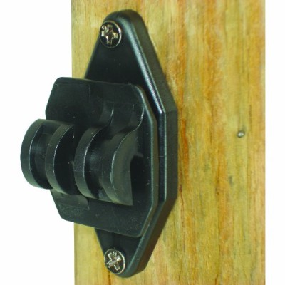 Field Guardian Wood Post Nail on Insulator for Hi-Tensile, Black by Field Guardian