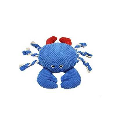 PetLou Colossals Crab Ultra Think Soft Fabric Durable Realistic Pet Toys 19""