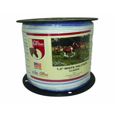 Field Guardian Classic Polytape, 1.5-Inch, White by Field Guardian