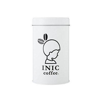 INIC Original Canister White 〔キャニスター缶/プレゼント/ギフト/グッズ/おしゃれ/可愛い/イニック/誕生日〕