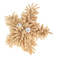 Multipet Sea Shammie 8-Inch Plush Starfish Dog Toy, Tan/Brown by Multi Pet