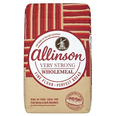 Allinson Very Strong Wholemeal Bread Flour (1.5Kg) アリンソン非常に強い全粒強力粉( 1.5Kg )