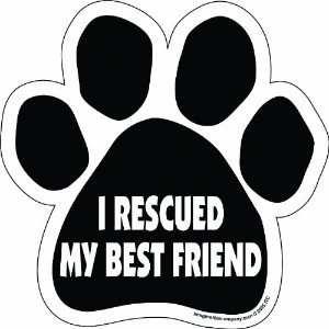 Imagine This Paw Car Magnet, I Rescued My Best Friend, 5-1/2-Inch by 5-1/2-Inch by Imagine This