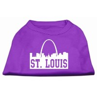 Mirage Pet Products 51-74 SMPR St Louis Skyline Screen Print Shirt Purple Sm - 10