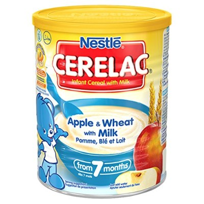Nestl? Cerelac Infant Cereals Apple And Wheat 400 g (Pack of 4)