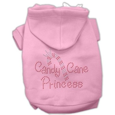 Mirage Pet Products 54-25-04 LGPK Candy Cane Princess Hoodies Pink L - 14