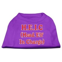 Mirage Pet Products 51-25-06 SMPR Head Elf In Charge Screen Print Shirt Purple Sm - 10