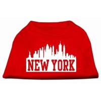 Mirage Pet Products 51-81 XSRD New York Skyline Screen Print Shirt Red XS - 8