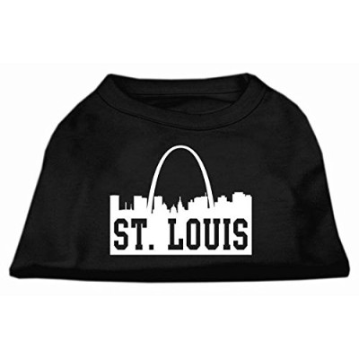 Mirage Pet Products 51-74 LGBK St Louis Skyline Screen Print Shirt Black Lg - 14