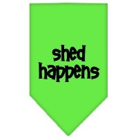Mirage Pet Products 66-71 LGLG Shed Happens Screen Print Bandana Lime Green Large