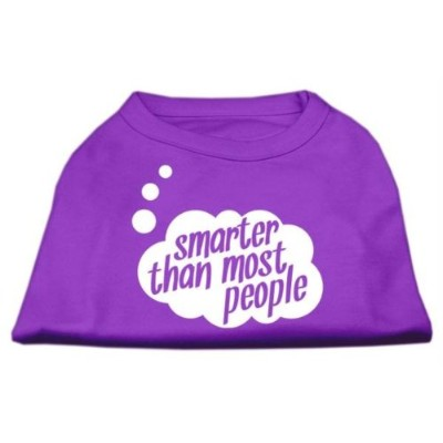 Mirage Pet Products 51-50 MDPR Smarter then Most People Screen Printed Dog Shirt Purple Med - 12