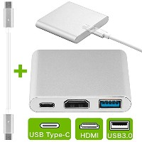 iitrust 3-in-1 Type-C USB 3.1 ハブ Type C ハブ Google Chromebook、Macbook 2016/2015 に充電機能付き type-c hdmi...