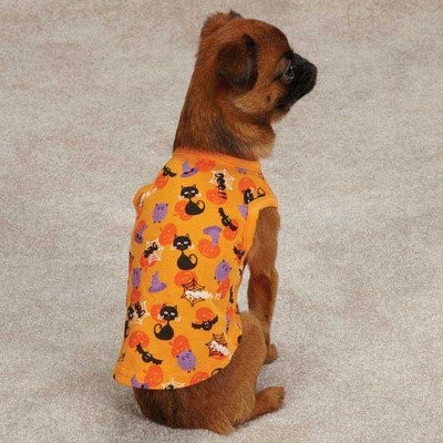 Spooky Dog Tank Size: Small / Medium (14 H x 10.5 W x 0.25 D) by Casual Canine
