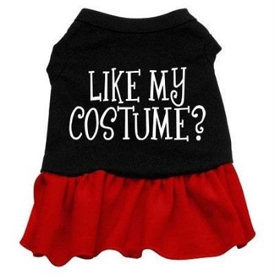 Mirage Pet Products 57-49 XXLBKRD Like my costume Screen Print Dress Black with Red XXL - 18