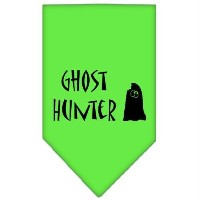 Mirage Pet Products 66-13-01 SMLG Ghost Hunter Screen Print Bandana Lime Green Small