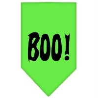 Mirage Pet Products 66-13-02 SMLG Boo! Screen Print Bandana Lime Green Small