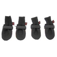 Muttluks Woof Walkers 1.5-Inch to 2.25-Inch Dog Boots, XX-Small, Black, Set of 4 by Muttluks