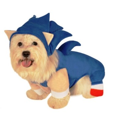 Sonic The Hedgehog Pet Costume, Small by Rubie's