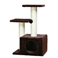 TRIXIE Pet Products Valencia Cat Tree, Chocolate Brown by Trixie Pet Products