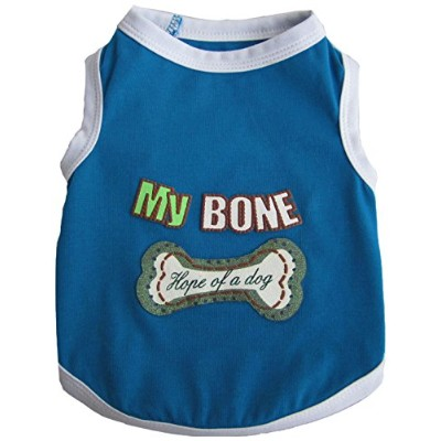 Iconic Pet 91986 Pretty Pet My Bone Tank Top For Dogs & Puppies- Large