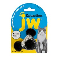 JW Cataction Pom Pom Triangle Toy, Multicolor by JW