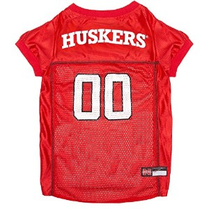 Pets First Collegiate Nebraska Huskers Dog Mesh Jersey, Large by Bama