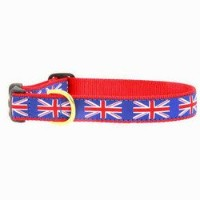 Up Country Union Jack Dog Collar - X-Large by Up Country