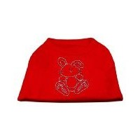Mirage Pet Products 52-88 MDRD Bunny Rhinestone Dog Shirt Red Med - 12