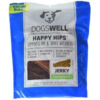 DogsWell Natural Happy Hips Joint Wellness Chicken Breast Jerky USA for Dogs 24z