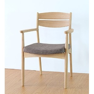 ISSEIKI DINING CHAIR ARM ダイニングチェアアーム付き ナチュラル 幅54.5 木製家具 【SO-80-3】