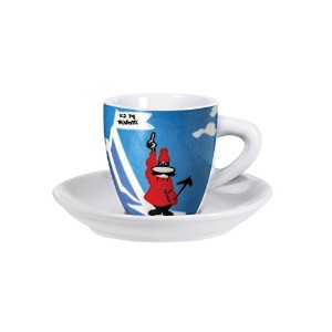 Bialetti - Espresso Cups and Saucers Set - Pack of 4 in Presentation Box - Porcelain - Sport
