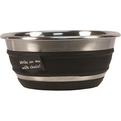 Our Pet's Stainless Steel Chalkboard Banded Bowl Durable Friendly Machine Small