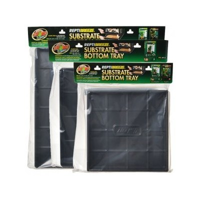 """Zoo Med ReptiBreeze Plastic Substrate Bottom Tray Reptile Pet Cage 24""""x 24"""""""