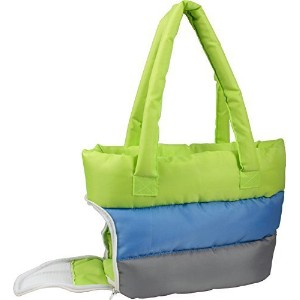 Bubble-Poly Tri-Colored insulated Pet Carrier, Green, Blue, Grey, One Size by Pet Life, LLC. [並行輸入品]