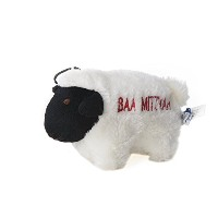 Copa Judaica Chewish Treat Baa Mitzvah Squeaker Plush Dog Toy, 6.5 by 4-Inch, Black and White ...