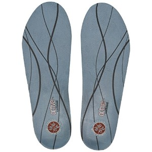 Plantar Fasciitis Pain Relieving Orthotic Insoles - Light Blue - Women's 8.5-10, Men's 7.5-9 by Vasyli LLC