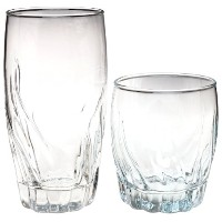 Anchor Hocking 16-Piece Central Park Drinkware Set, Clear by Anchor Hocking