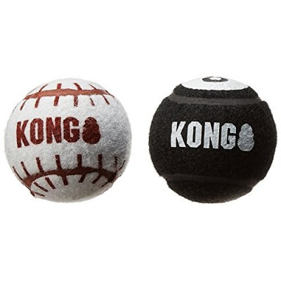 KONG 2-Pack Sport Balls Dog Toy, Large, Assorted by KONG [並行輸入品]